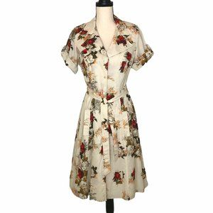 LAUNDRY BY SHELLI SEGAL FLORAL SHIRT DRESS 6